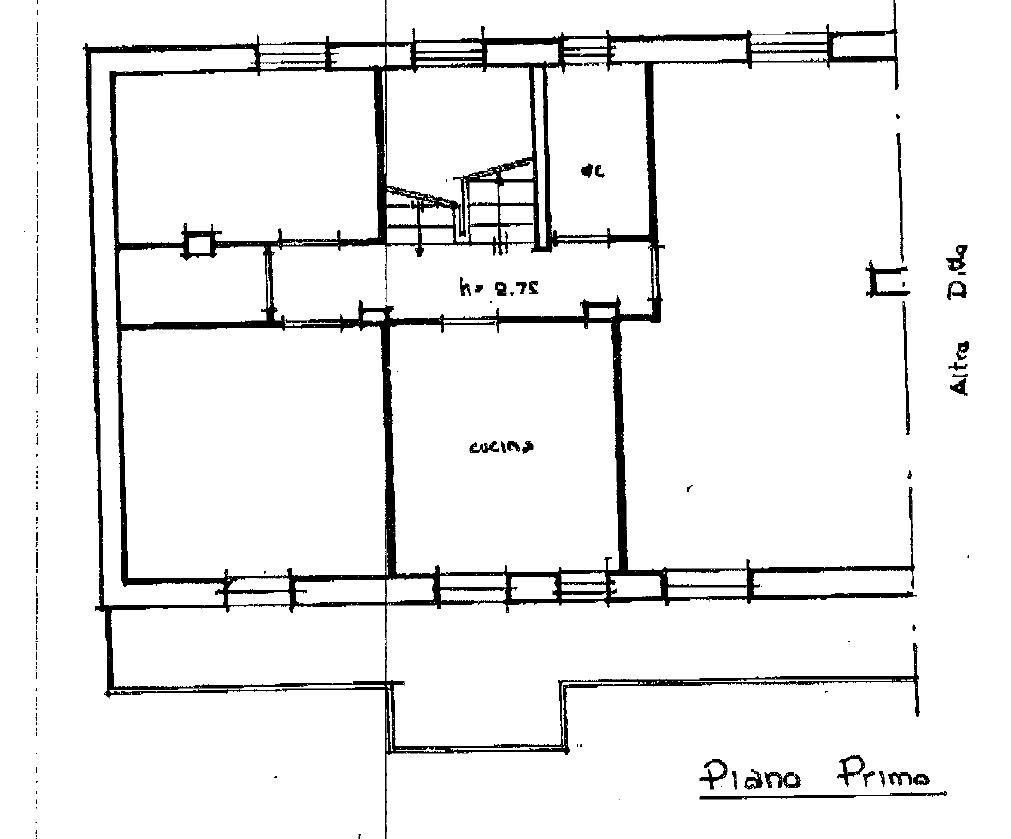 Po101 porzione di casa in vendita a castiglione del lago for Planimetrie vista montagna