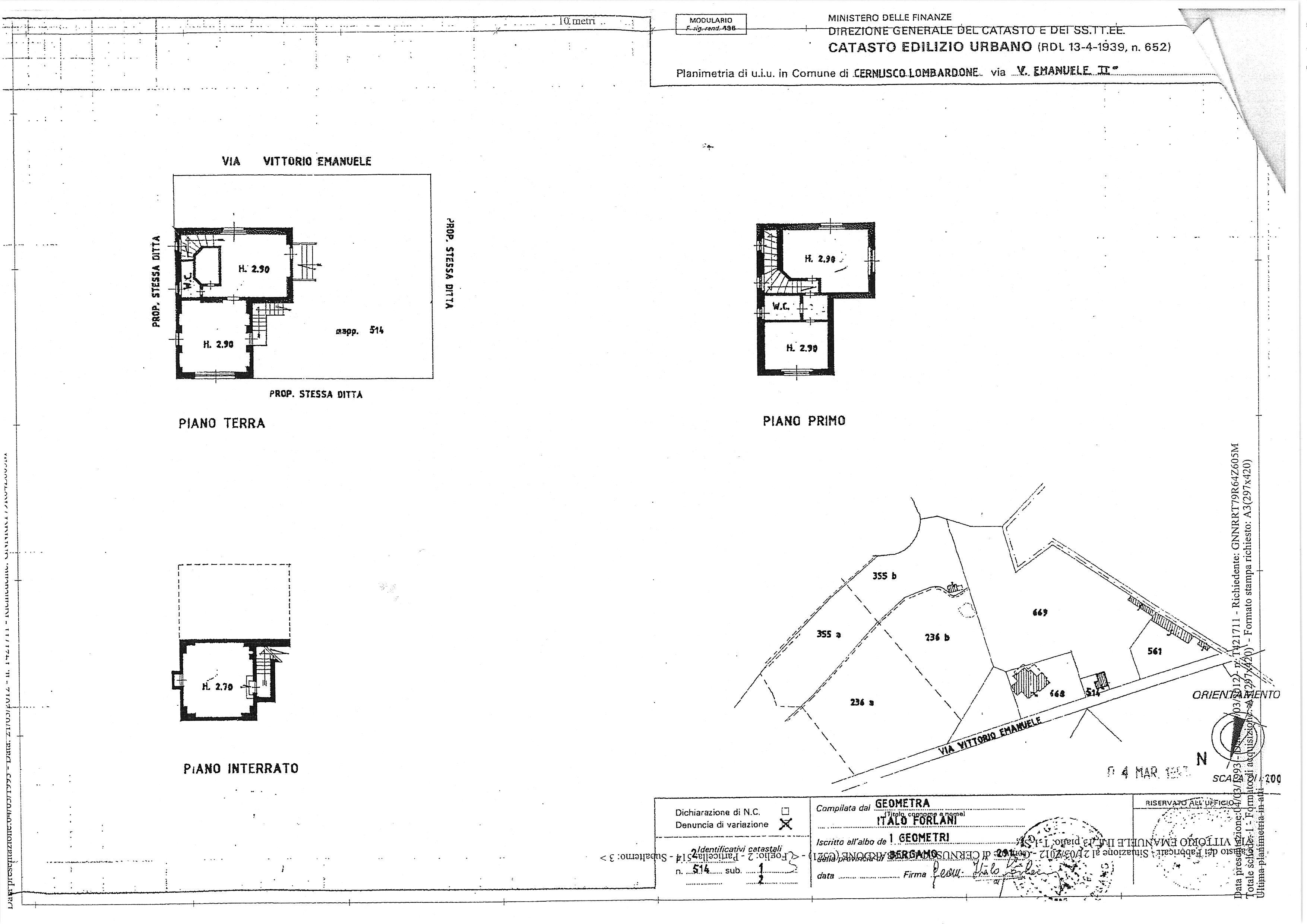 161 villa in vendita a cernusco lombardone lc ville for Planimetrie vista montagna