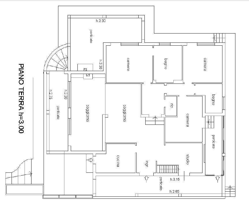 2494 villa in vendita a chiusi si ville casali for Planimetrie vista montagna